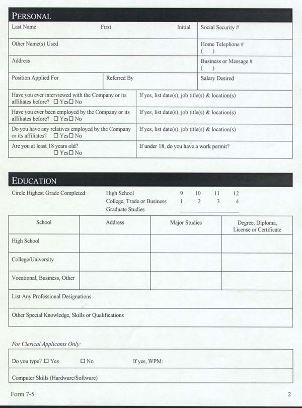 Job Application Form Lesson Plan Job Application Letter